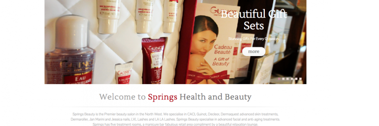 Springs Beauty New Website