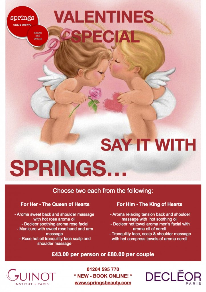 Valentines specials at Springs Beauty